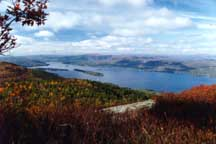 View of Lake George from the Adirondack Mountains
