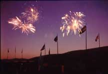 Fireworks hit Lake George every Thursday evening in the summer